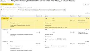Рухи документа: Коригування вартосты быологічних активів (кролів) в 1С БСПУ